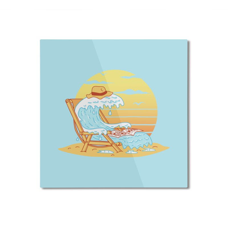 WAVE ON THE BEACH Home Mounted Aluminum Print by gotoup's Artist Shop