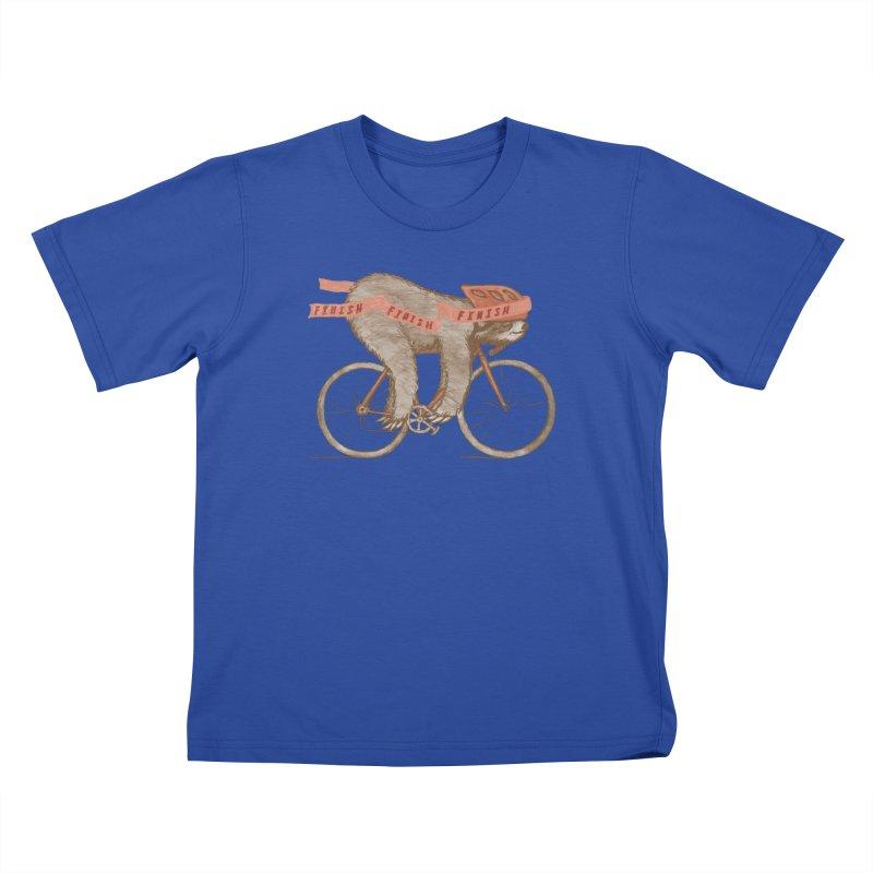 FINISH Kids T-Shirt by gotoup's Artist Shop