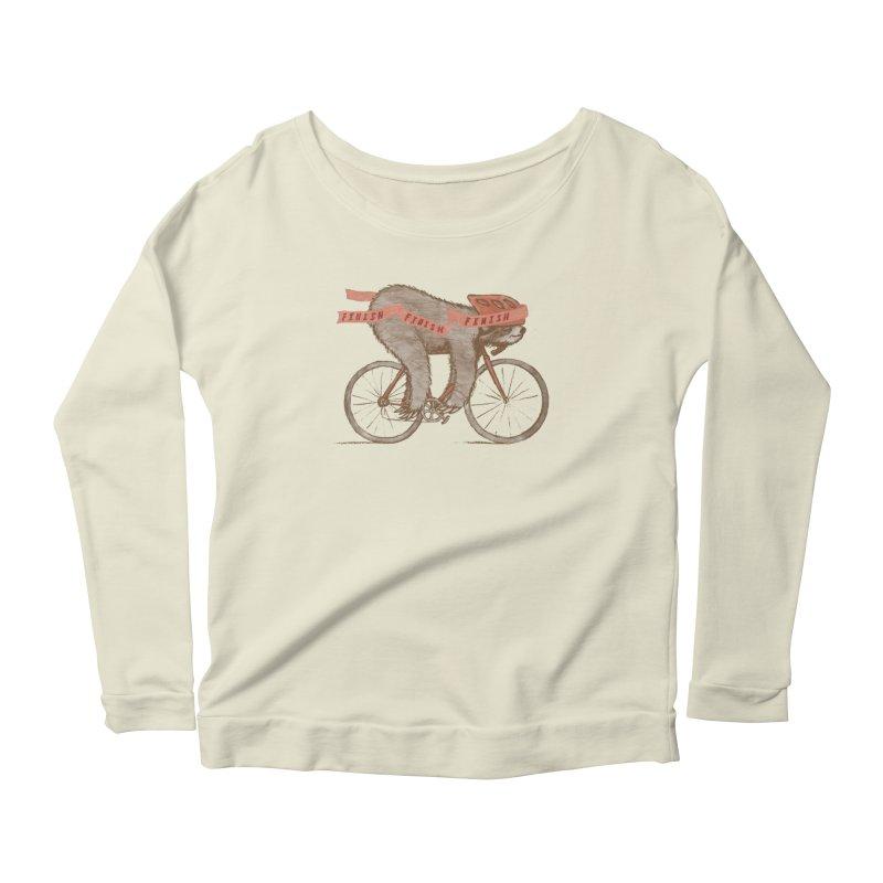 FINISH Women's Scoop Neck Longsleeve T-Shirt by gotoup's Artist Shop
