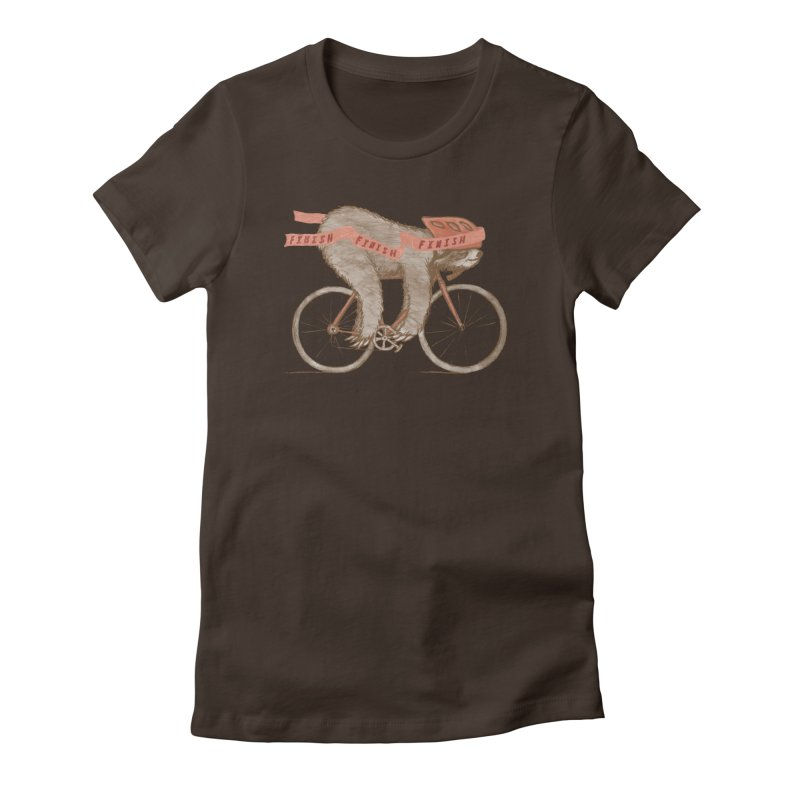 FINISH Women's Fitted T-Shirt by gotoup's Artist Shop