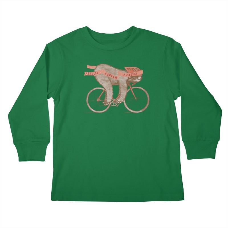 FINISH Kids Longsleeve T-Shirt by gotoup's Artist Shop