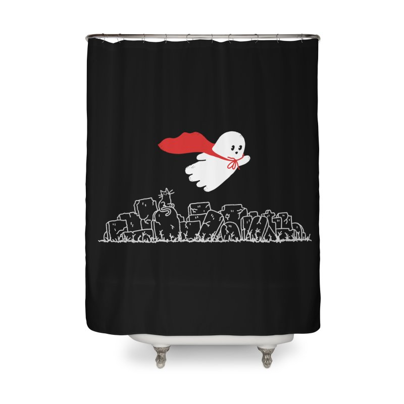 GHOST HERO Home Shower Curtain by gotoup's Artist Shop