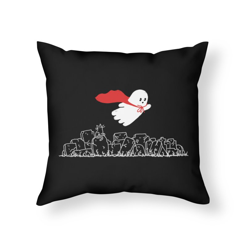 GHOST HERO Home Throw Pillow by gotoup's Artist Shop