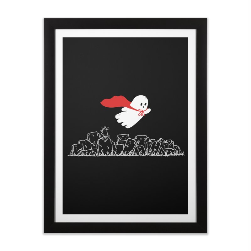 GHOST HERO Home Framed Fine Art Print by gotoup's Artist Shop