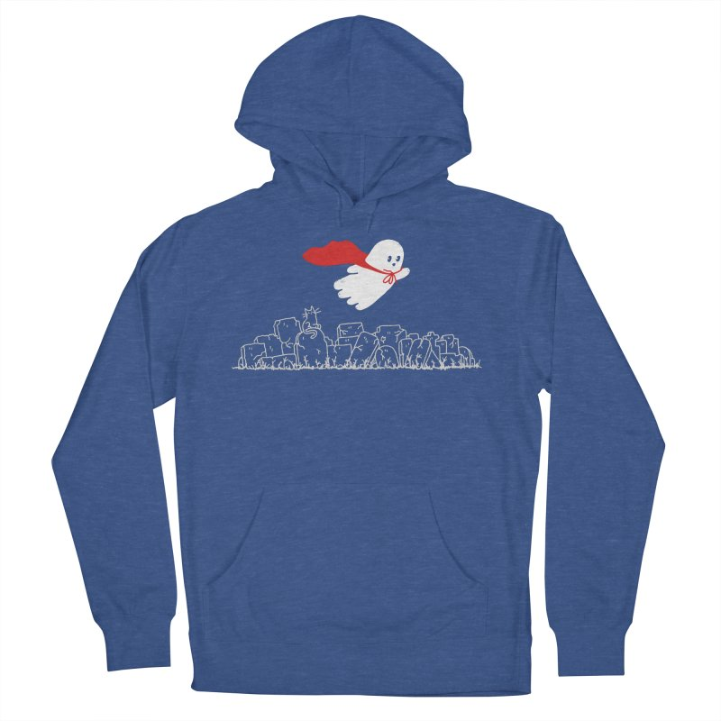 GHOST HERO Men's French Terry Pullover Hoody by gotoup's Artist Shop