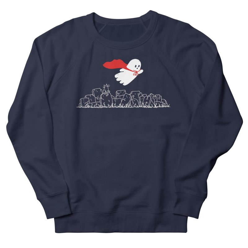 GHOST HERO Women's French Terry Sweatshirt by gotoup's Artist Shop