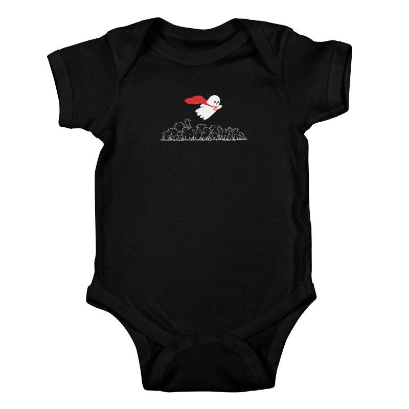 GHOST HERO Kids Baby Bodysuit by gotoup's Artist Shop