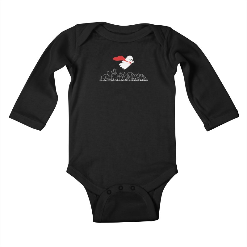 GHOST HERO Kids Baby Longsleeve Bodysuit by gotoup's Artist Shop