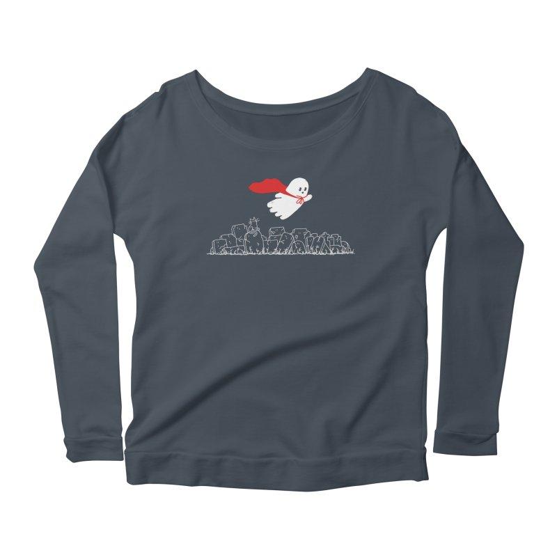 GHOST HERO Women's Scoop Neck Longsleeve T-Shirt by gotoup's Artist Shop
