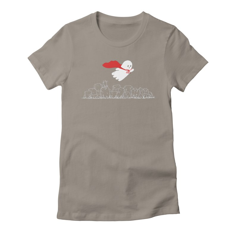 GHOST HERO Women's Fitted T-Shirt by gotoup's Artist Shop