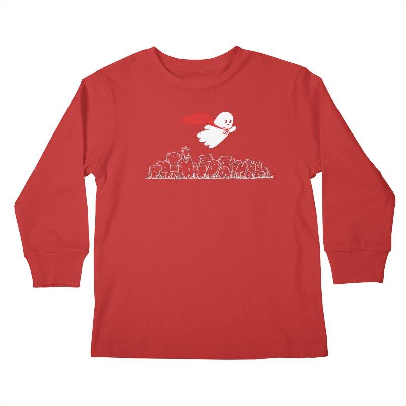 GHOST HERO Kids Longsleeve T-Shirt by gotoup's Artist Shop