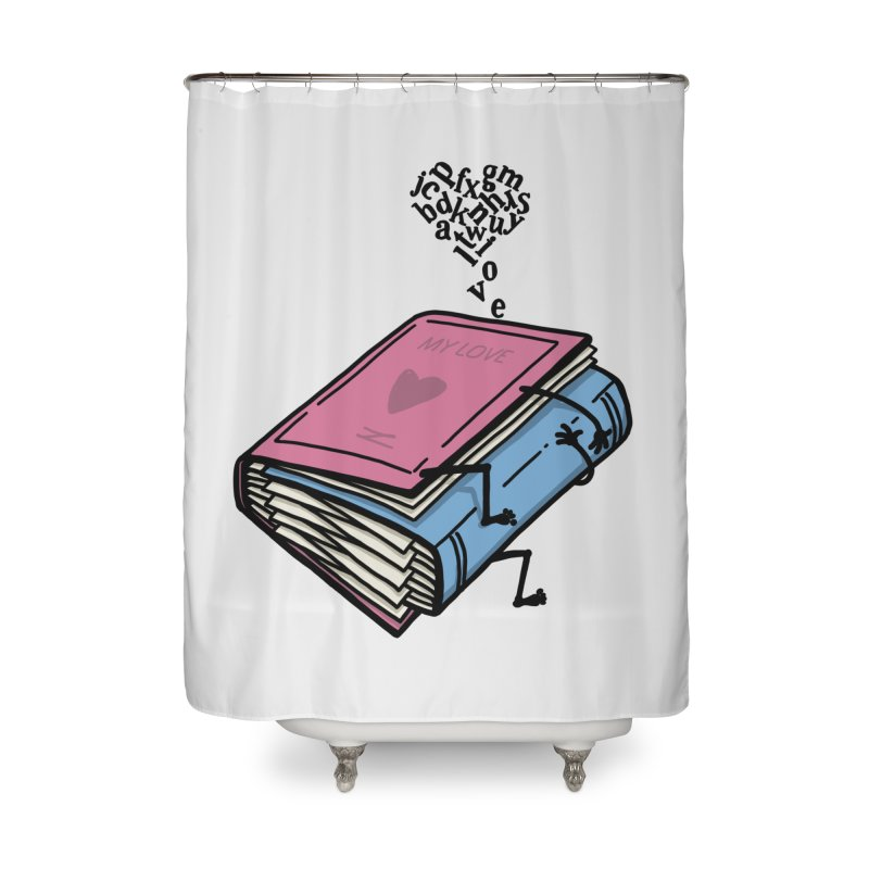 love books Home Shower Curtain by gotoup's Artist Shop