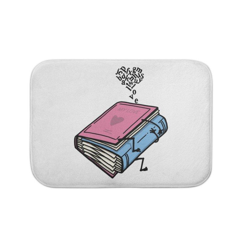 love books Home Bath Mat by gotoup's Artist Shop