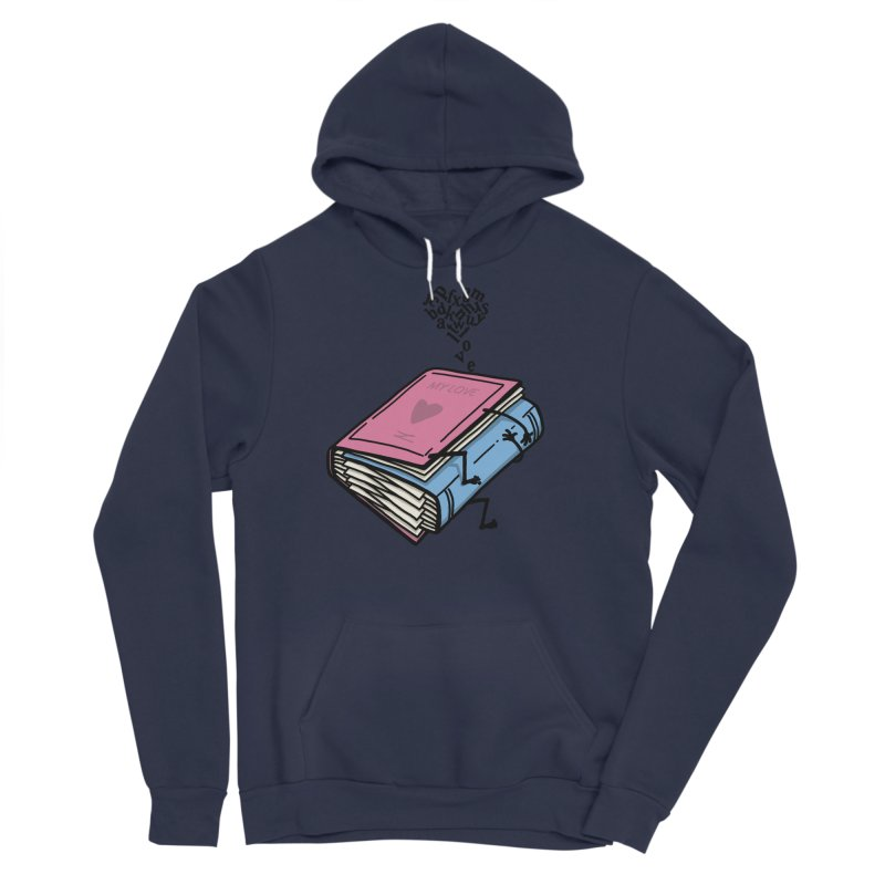 love books Men's Sponge Fleece Pullover Hoody by gotoup's Artist Shop