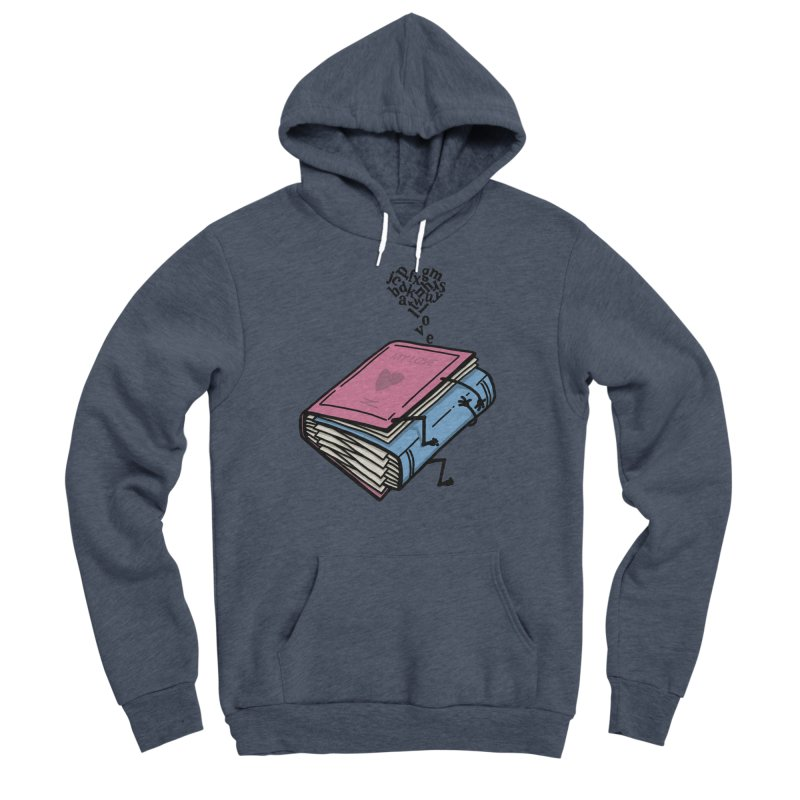 love books Men's Sponge Fleece Pullover Hoody by gotoup's Artist Shop