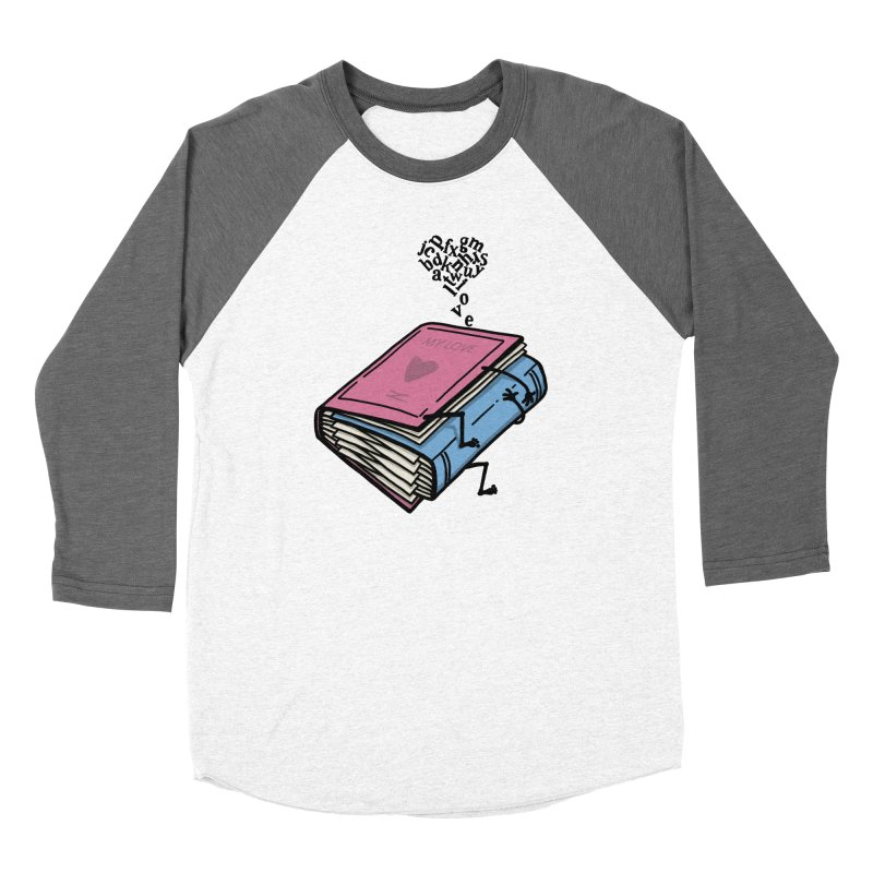 love books Men's Baseball Triblend Longsleeve T-Shirt by gotoup's Artist Shop