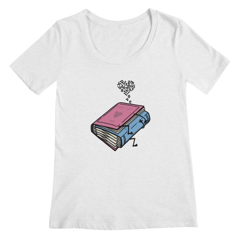 love books Women's Regular Scoop Neck by gotoup's Artist Shop