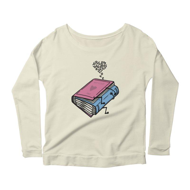 love books Women's Scoop Neck Longsleeve T-Shirt by gotoup's Artist Shop