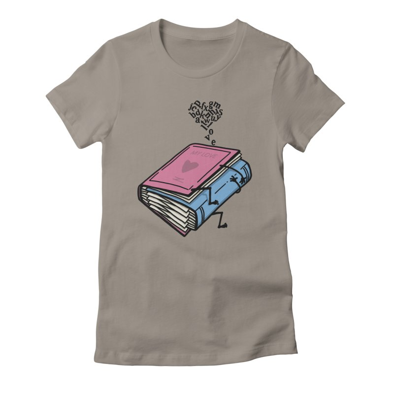 love books Women's Fitted T-Shirt by gotoup's Artist Shop