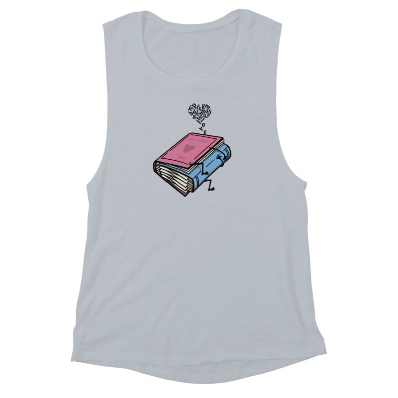 love books Women's Muscle Tank by gotoup's Artist Shop