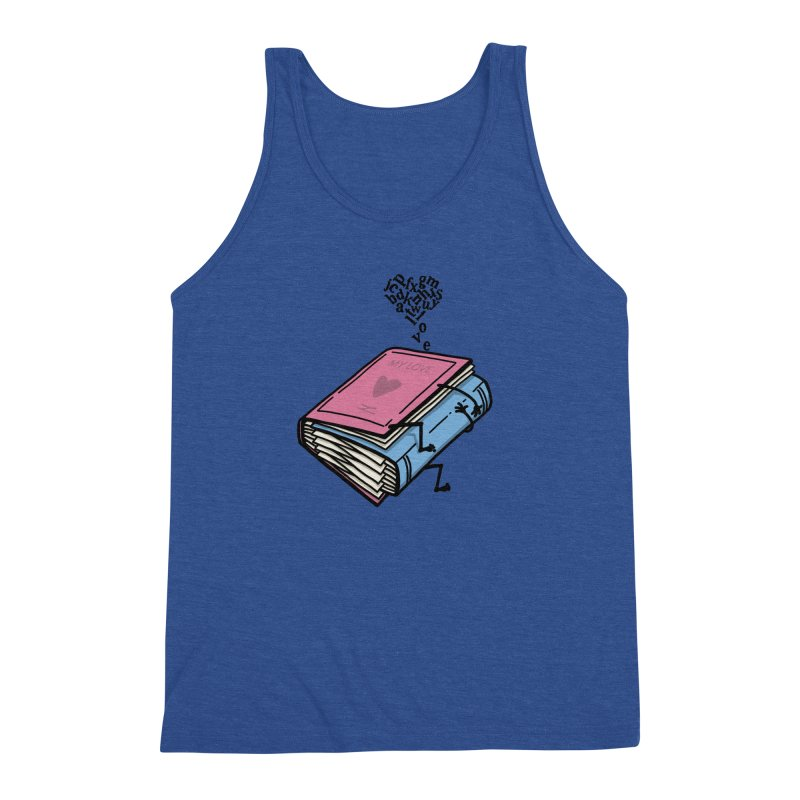 love books Men's Triblend Tank by gotoup's Artist Shop