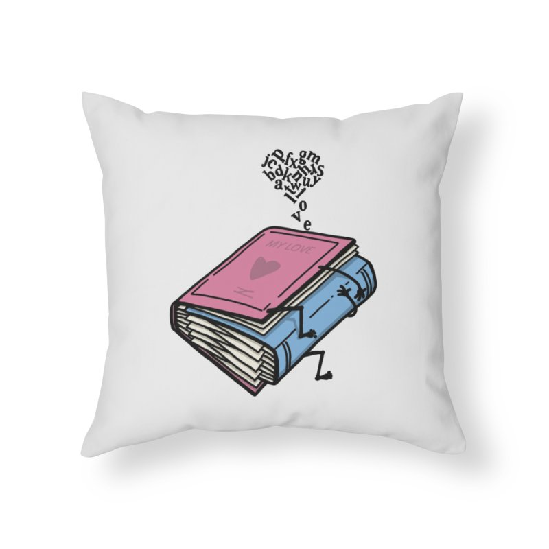 love books Home Throw Pillow by gotoup's Artist Shop