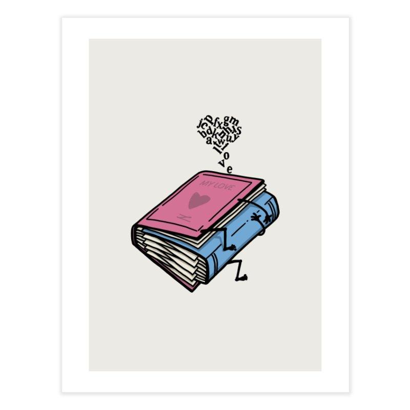 love books Home Fine Art Print by gotoup's Artist Shop