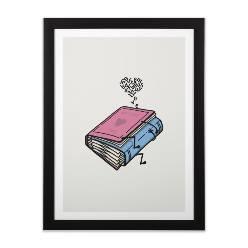 love books Home Framed Fine Art Print by gotoup's Artist Shop
