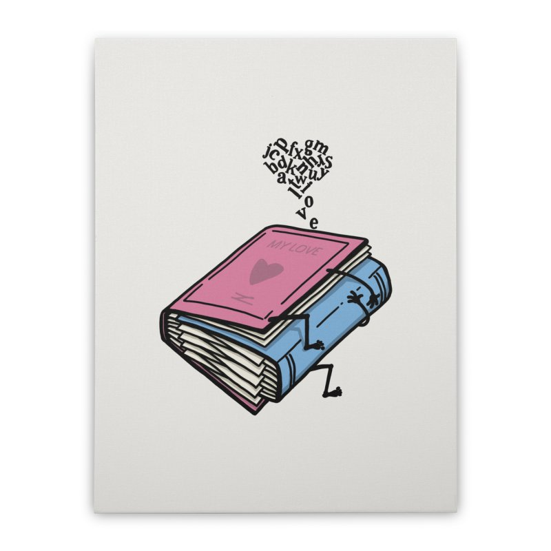 love books Home Stretched Canvas by gotoup's Artist Shop