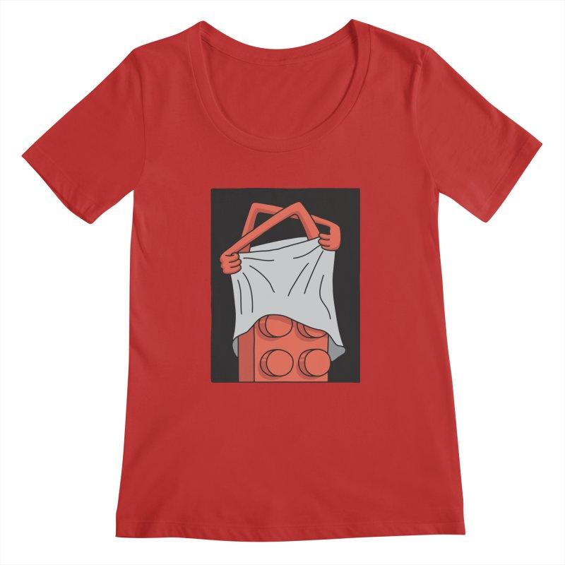 STRIP Women's Regular Scoop Neck by gotoup's Artist Shop