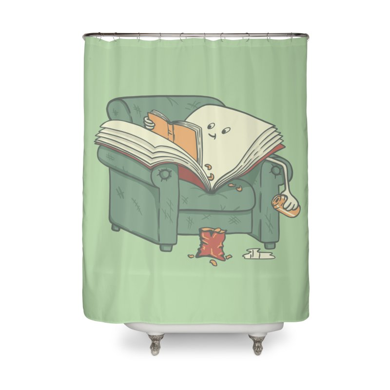 BOOK READS Home Shower Curtain by gotoup's Artist Shop