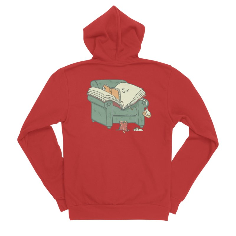 BOOK READS Women's Sponge Fleece Zip-Up Hoody by gotoup's Artist Shop