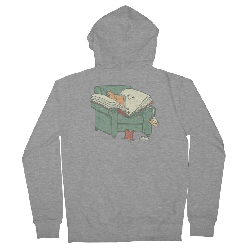 BOOK READS Men's French Terry Zip-Up Hoody by gotoup's Artist Shop