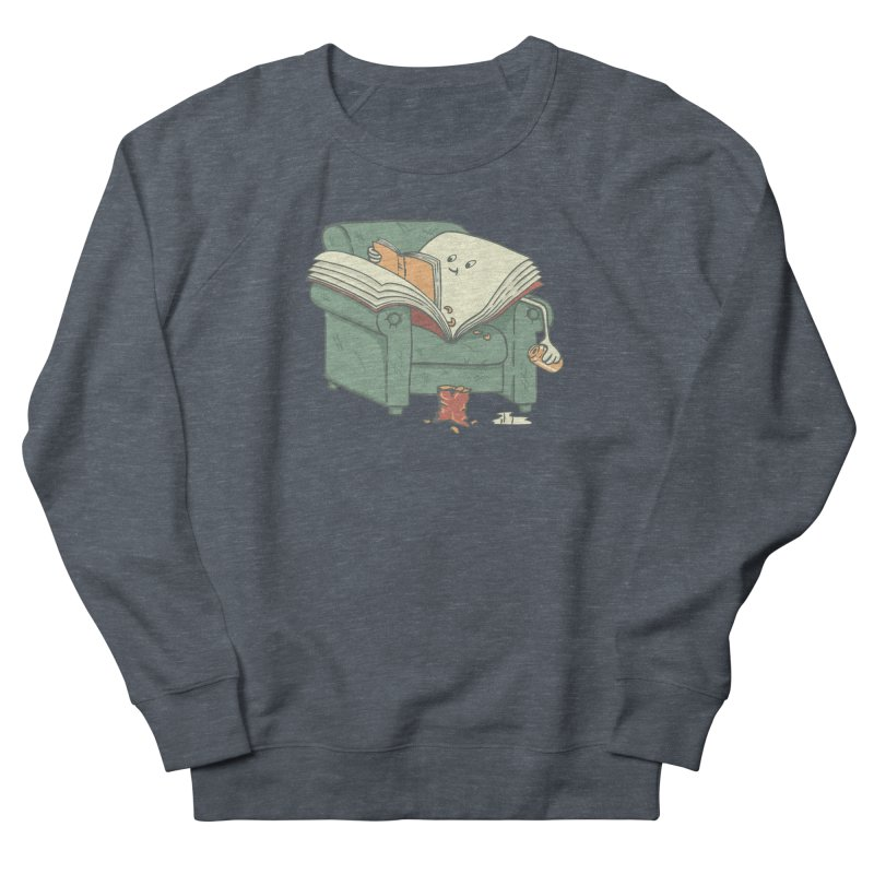 BOOK READS Men's French Terry Sweatshirt by gotoup's Artist Shop