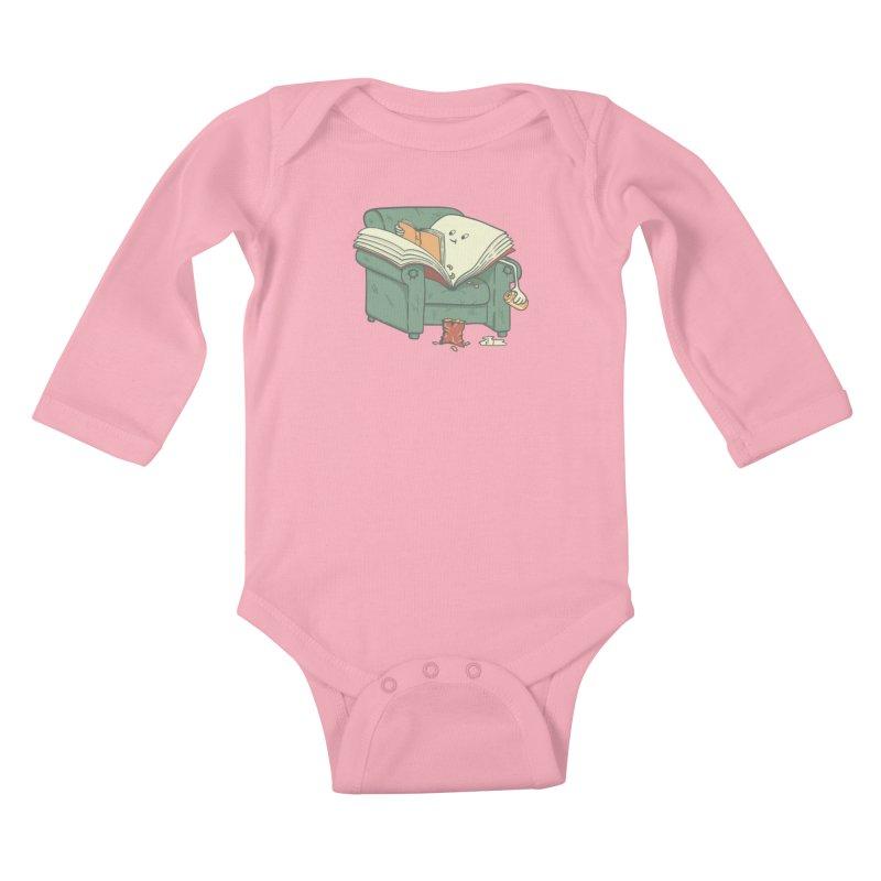 BOOK READS Kids Baby Longsleeve Bodysuit by gotoup's Artist Shop
