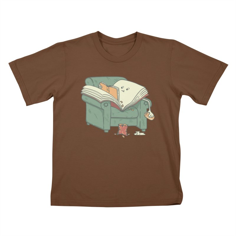 BOOK READS Kids T-Shirt by gotoup's Artist Shop