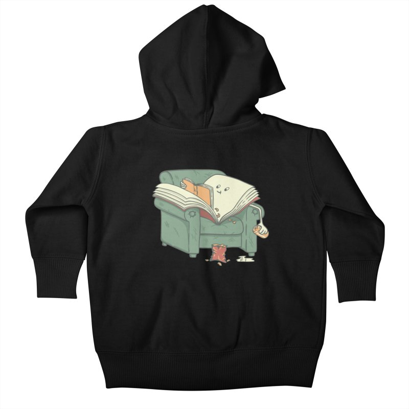 BOOK READS Kids Baby Zip-Up Hoody by gotoup's Artist Shop