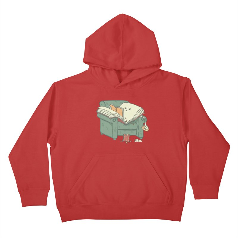 BOOK READS Kids Pullover Hoody by gotoup's Artist Shop