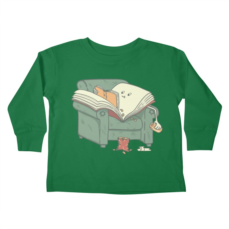 BOOK READS Kids Toddler Longsleeve T-Shirt by gotoup's Artist Shop