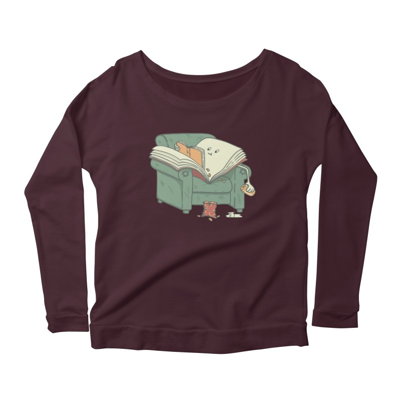 BOOK READS Women's Scoop Neck Longsleeve T-Shirt by gotoup's Artist Shop
