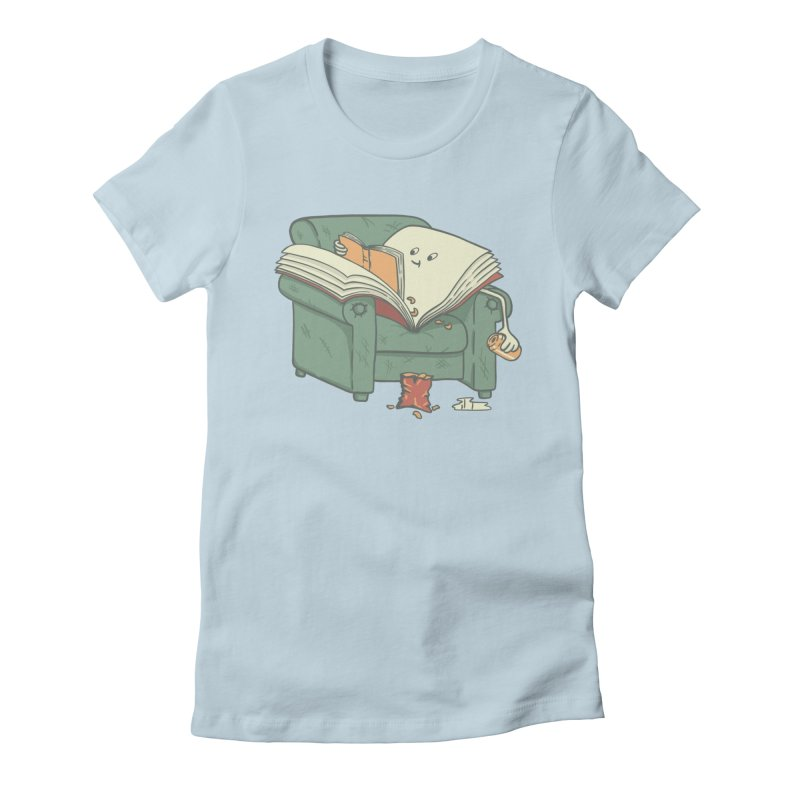 BOOK READS Women's Fitted T-Shirt by gotoup's Artist Shop