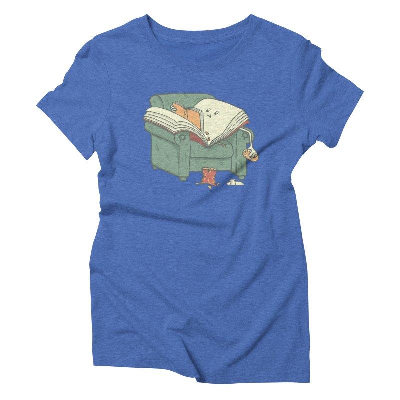 BOOK READS Women's Triblend T-Shirt by gotoup's Artist Shop