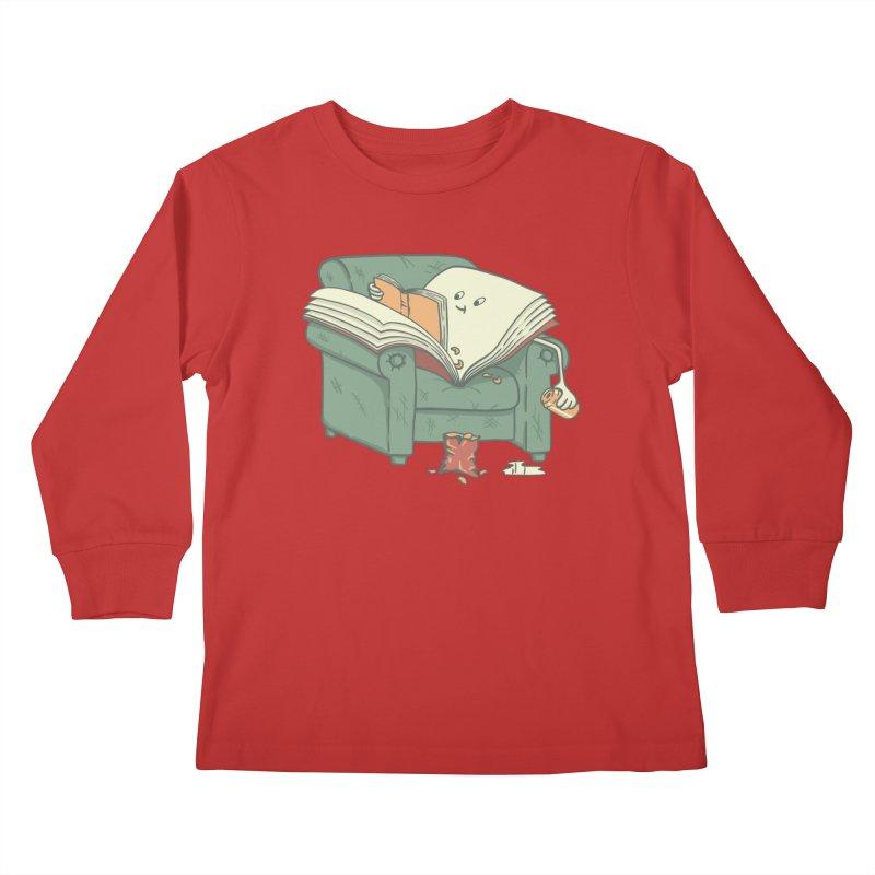 BOOK READS Kids Longsleeve T-Shirt by gotoup's Artist Shop