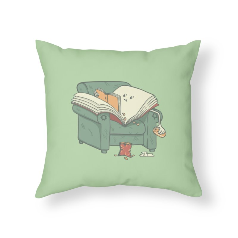 BOOK READS Home Throw Pillow by gotoup's Artist Shop