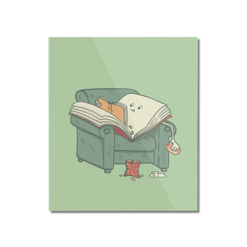 BOOK READS Home Mounted Acrylic Print by gotoup's Artist Shop