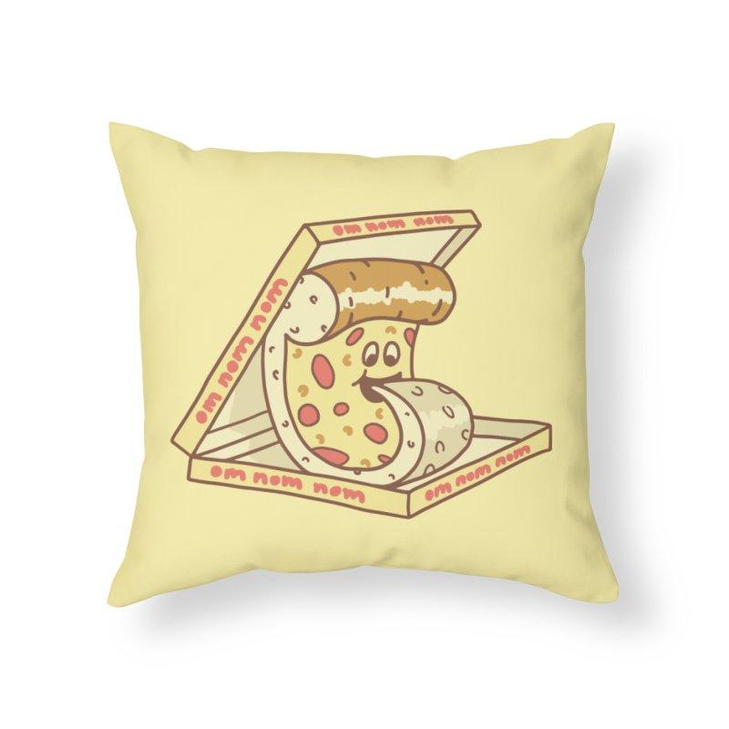 om nom nom Home Throw Pillow by gotoup's Artist Shop