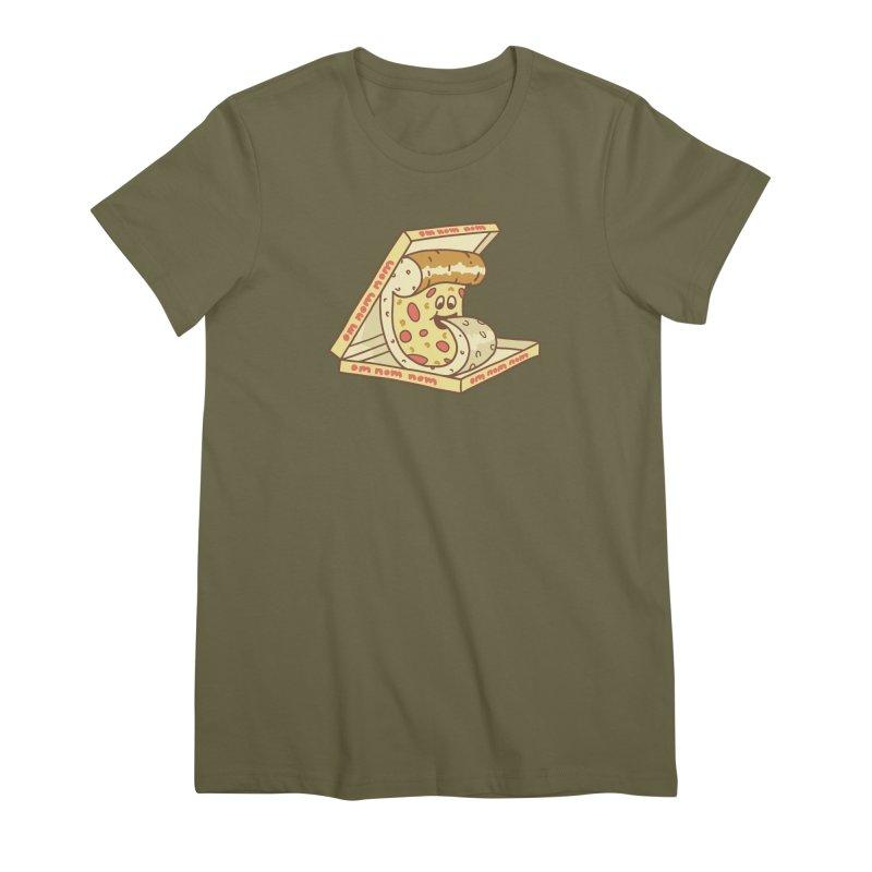om nom nom Women's Premium T-Shirt by gotoup's Artist Shop