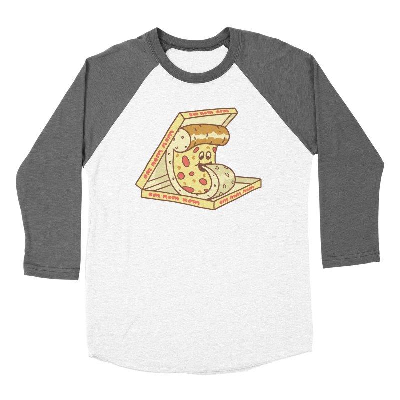 om nom nom Women's Baseball Triblend Longsleeve T-Shirt by gotoup's Artist Shop