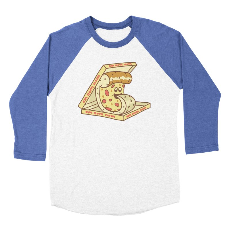 om nom nom Men's Baseball Triblend Longsleeve T-Shirt by gotoup's Artist Shop