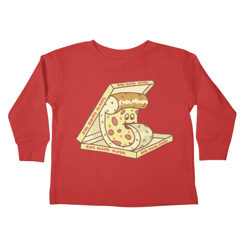om nom nom Kids Toddler Longsleeve T-Shirt by gotoup's Artist Shop